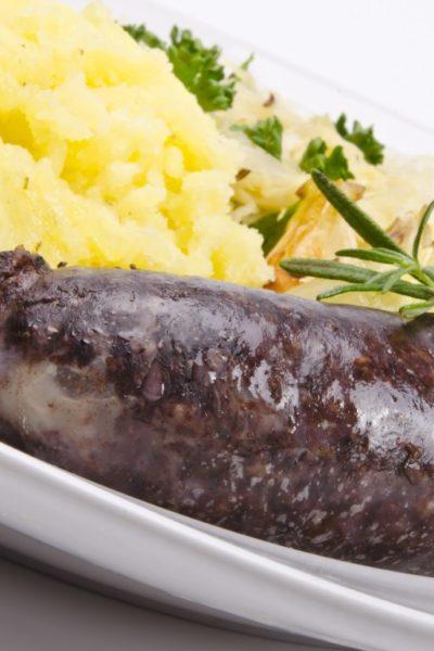 Boudin noir normand aux oignons